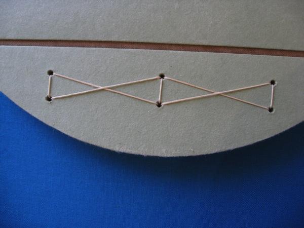 C C Press round spine detail